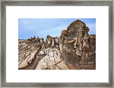 Dragon's Teeth Rocks Framed Print