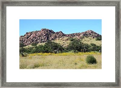 Dragoon Mountains Framed Print by Joe Kozlowski