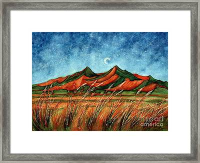 Dragoon Mountains Southwest Az Framed Print