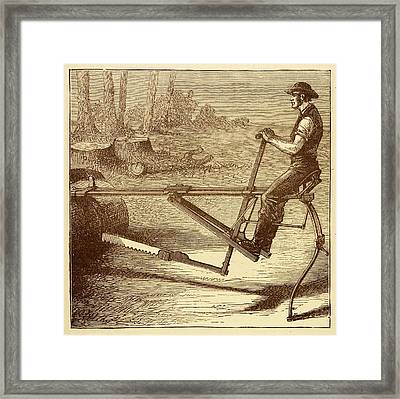 Dragsaw Sawing Machine Framed Print by David Parker