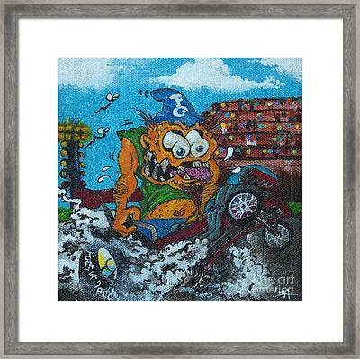 Dragster Fink Framed Print by Thomas Luca