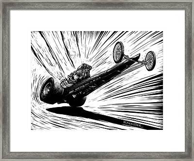 Dragster Launch Framed Print