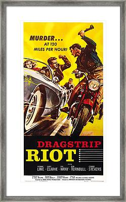 Dragstrip Riot, Us Poster Art, 1958 Framed Print by Everett