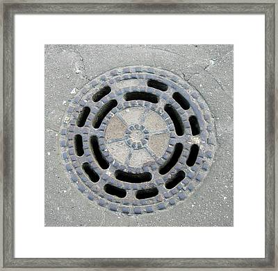 Drain Cover Framed Print