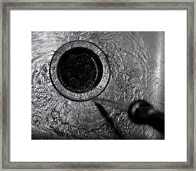Drain  Framed Print