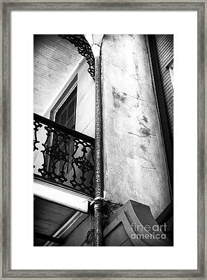 Drain Pipe Framed Print by John Rizzuto