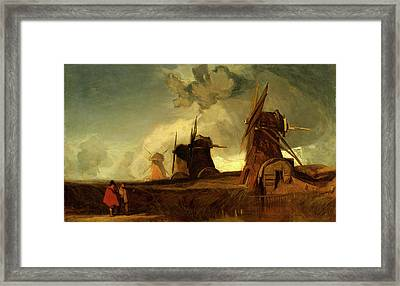 Drainage Mills In The Fens, Croyland, Lincolnshire Framed Print