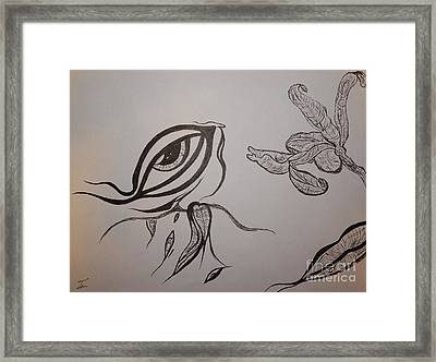 Drained By The Bloom Framed Print