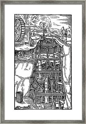 Draining Mine Framed Print by Universal History Archive/uig