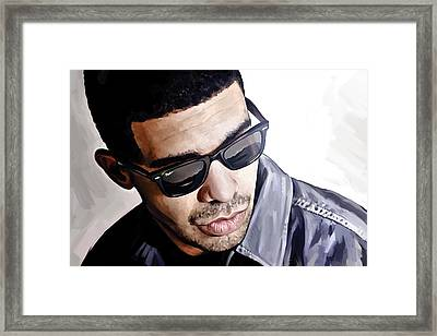 Drake Artwork 1 Framed Print by Sheraz A