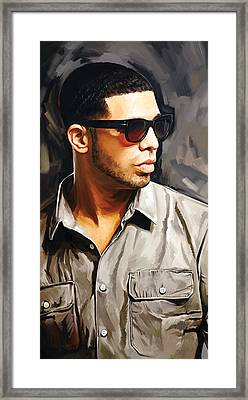 Drake Artwork 2 Framed Print by Sheraz A