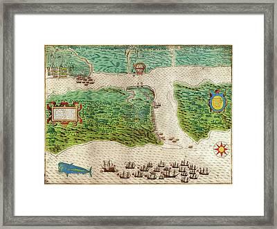 Drake's Attack On Saint Augustine Framed Print