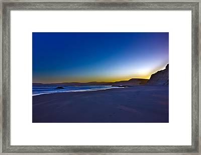 Drake's Beach Hdr Framed Print