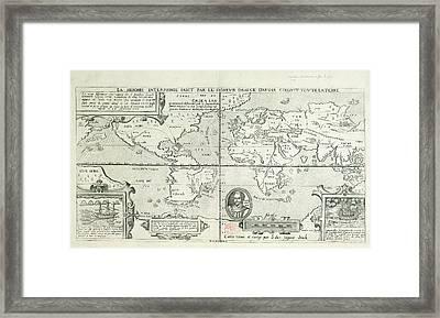 Drake's World Voyage Framed Print by British Library