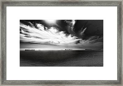 Framed Print featuring the photograph Drama Clouds by Joseph Hollingsworth