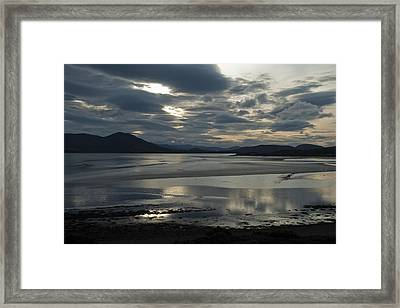 Framed Print featuring the photograph Drama Dornoch Firth by Sally Ross