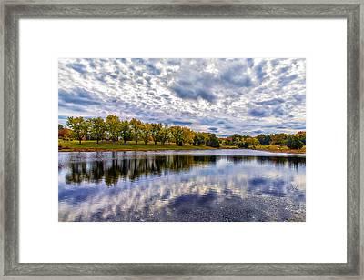 Drama In Autumn Skies Framed Print by Bill Tiepelman