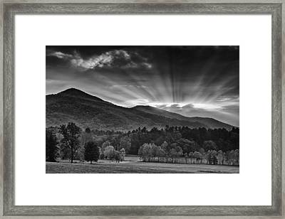 Drama In The Smokies Framed Print by Andrew Soundarajan