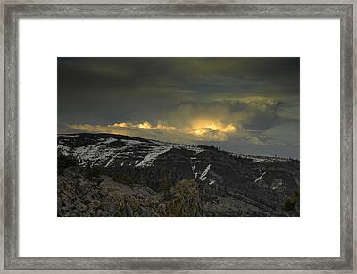 Drama Is Coming Framed Print by Donna Blackhall