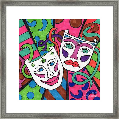 Drama Masks Framed Print