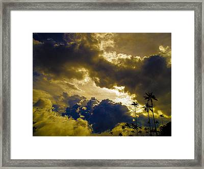 Drama Over Cocora Framed Print