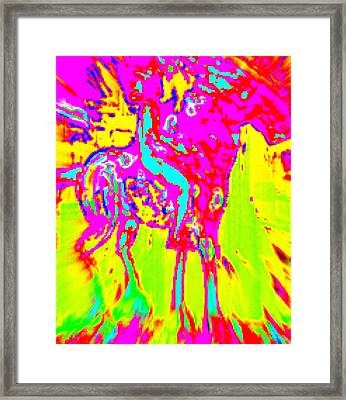 Drama Queens Riding Again  Framed Print by Hilde Widerberg