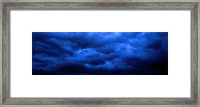 Dramatic Blue Clouds Framed Print by Panoramic Images
