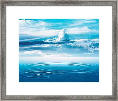 Dramatic Cloud Formations Above Rings Framed Print