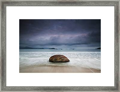 Dramatic Clouds And Stormy Weather Framed Print by Alex Saberi