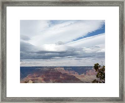 Dramatic Clouds Over The Grand Canyon Framed Print by Laurel Powell