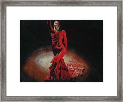 Dramatic In Scarlet Framed Print by Cherise Foster