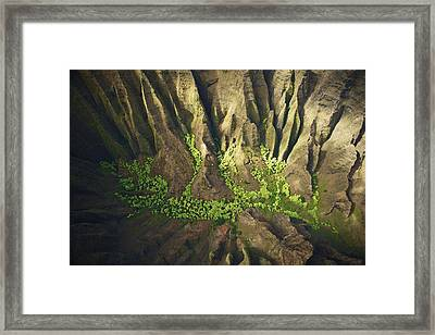 Dramatic Kokee Aerial Framed Print by Kicka Witte