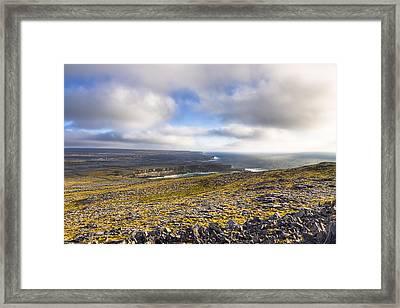 Dramatic Landscape Of The Aran Islands Framed Print by Mark Tisdale