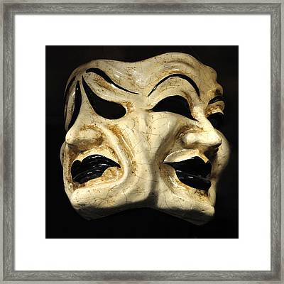 Dramatic Mask Framed Print by Matt MacMillan