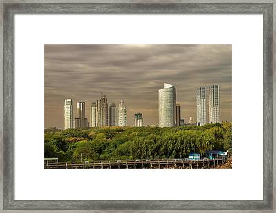 Dramatic Modern Buenos Aires Framed Print by For Ninety One Days