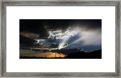 Dramatic Monsoon Sunset Framed Print