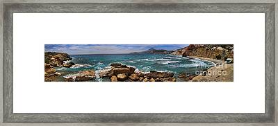 Dramatic Ocean Panorama On Milos Island Greece Framed Print