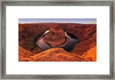 Framed Print featuring the photograph Dramatic River Bend by David Andersen