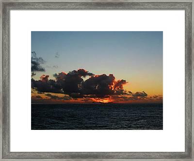 Dramatic Sea Sky At Dawn Framed Print by Susan Savad