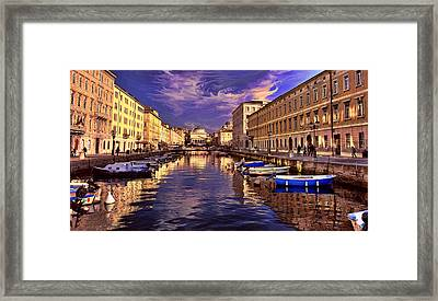 Dramatic Skies Over Trieste Framed Print