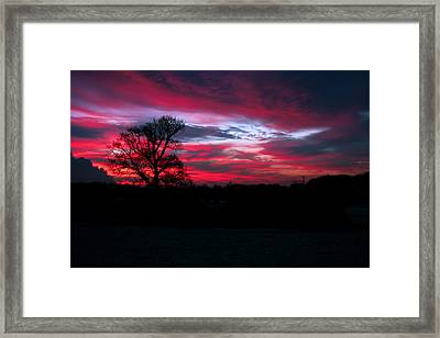 Dramatic Sky At Daybreak. Framed Print by Paul Scoullar