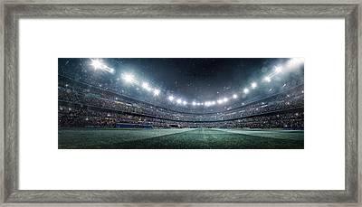 Dramatic Soccer Stadium Panorama Framed Print by Dmytro Aksonov