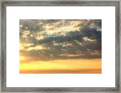 Dramatic Sunglow Framed Print by Deborah  Crew-Johnson