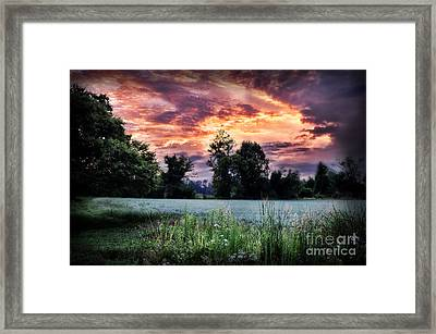 Dramatic Sunrise Framed Print