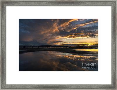 Dramatic Sunset Conclusion Framed Print