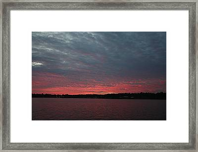 Framed Print featuring the photograph Dramatic Sunset by Ellen O'Reilly