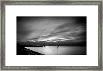 Dramatic Sunset In Black And White Framed Print
