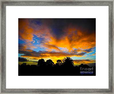 Framed Print featuring the photograph Dramatic Sunset by Mark Blauhoefer