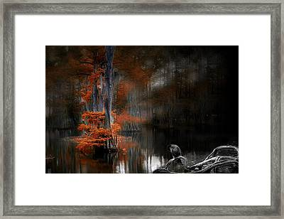 Framed Print featuring the photograph Dramaticlake2 by Cecil Fuselier