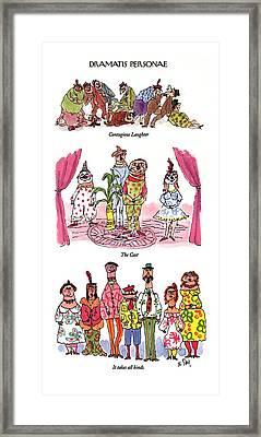 Dramatis Personae Framed Print